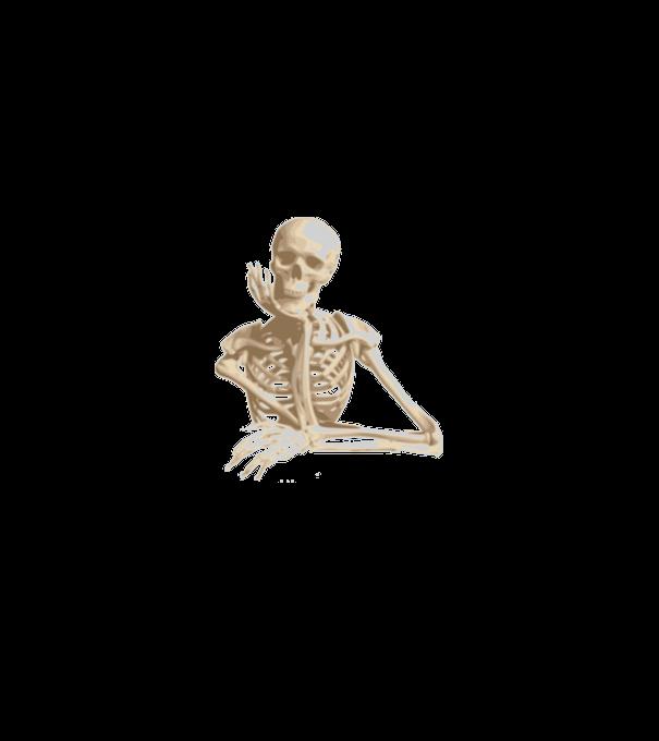 2107869220 Mosolygós csontváz póló minta - Pólómánia