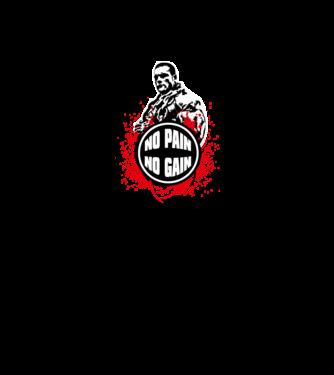No pain - No gain minta fehér royal pólón ddf8497379
