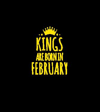 Kings are born in - February minta piros pólón 530479f0bd