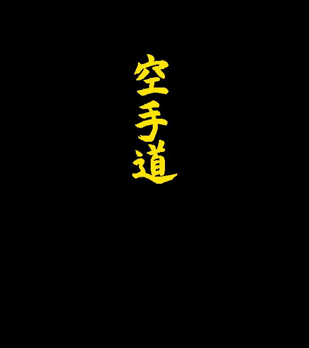 30355efc33 karate-kanji-1color minta narancssárga pólón