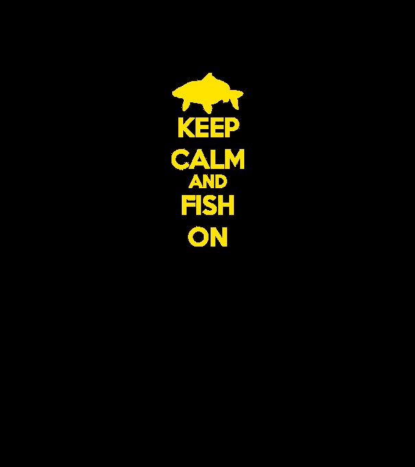 2cdc76b44f Keep calm and fish on minta narancssárga pólón