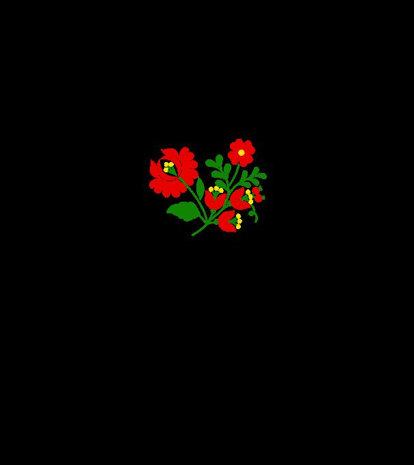 43259f0837 Kalocsai virágok 3 színnel A póló minta - Pólómánia