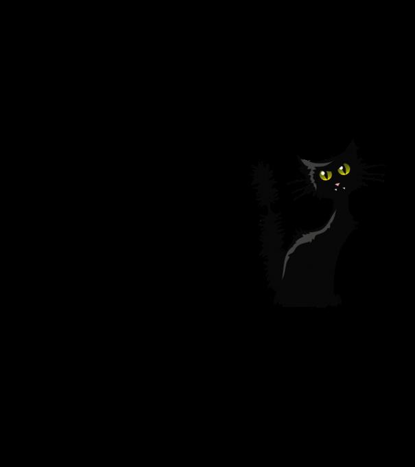 Fekete cicás póló póló minta - Pólómánia c7cf86848d