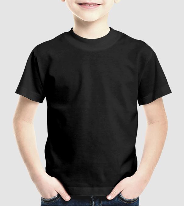 Van egy őrült bátyám minta fekete pólón. Eleje. Uniszex gyerek Póló póló  minta. Hátulja 771ce65706