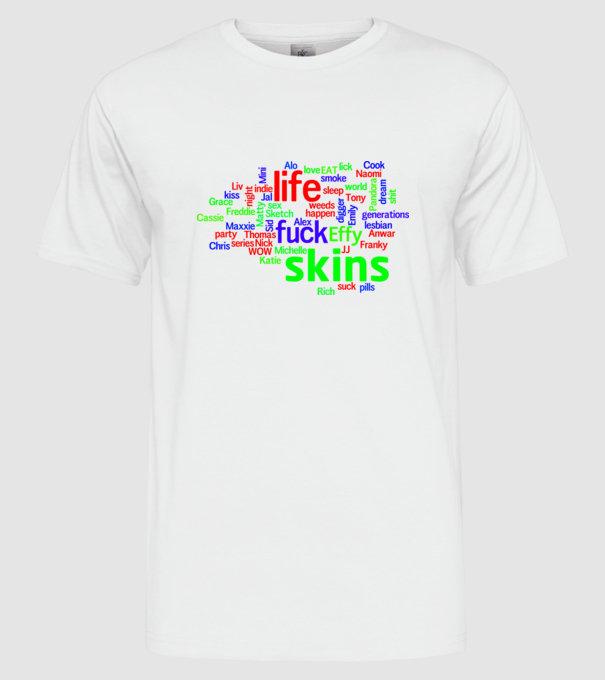 a231bfb3fd Skins szófelhő 1 póló minta - Pólómánia